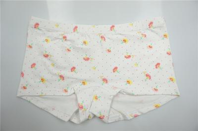 Comfortable Girl's Combed Cotton Elastane Water Print Boxers